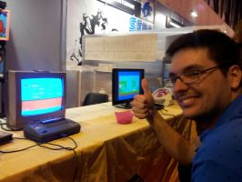 MGW 2015: Me playing Sega Master System by alvarobmk123