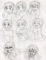 Anime Expressions (Girl) by Gracey88