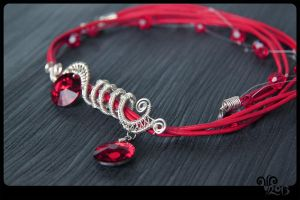 Wire Work_Necklace by ViKiV