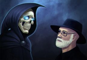 Terry Pratchett by 1nkor