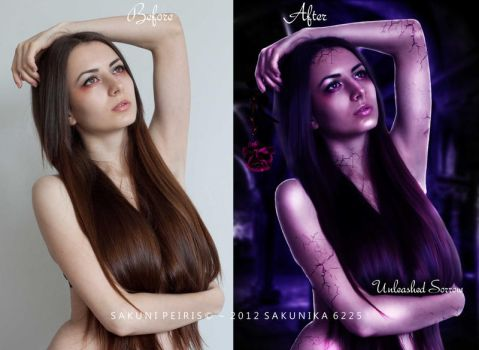 Unleashed Sorrow Before and After by sakunika6225