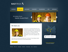 Baufirma Screendesign by emotioncore
