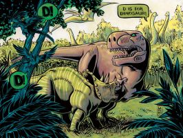 D is for Dinosaur by liliesformary