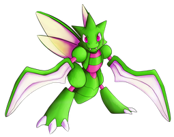 Shiny Scyther by PaleBlank