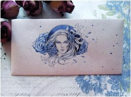 - Envelope - Blue Rose - by Losenko