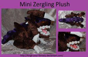 Mini Zergling Plush - Commission - Starcraft II by Forge-Your-Fantasy