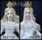 repainted ooak mirana, the white queen doll. by verirrtesIrrlicht