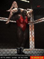 Bette Jones - wrestler - 6ft 10in 310lbs by theamazonclub