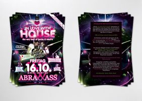 in love with house flyer by homeaffairs