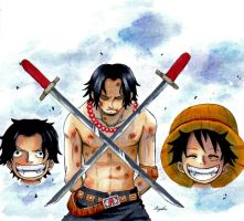 Portgas D. Ace: Execution by anjelleshadow