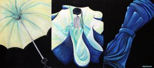 Umbrella Triptych by KeyPassions