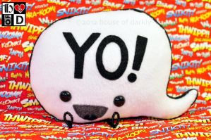 Speech Bubble plush prototype YO! by brokensymphony