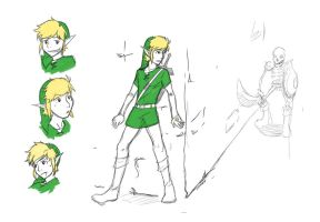 Link Sketches by amberunikoresu
