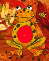 Clever Autumn Frog by ewick