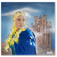 Khaleesi - Mother of dragons by TheArtofBlouh