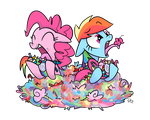 Cotton Candy and Rainbow Taffy by yiKOmega