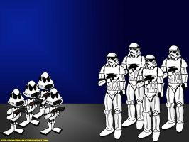 Stormtwoopers meet the Stormtroopers by VoyagerHawk87