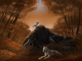 The wolf ground by Interu-Bernhard