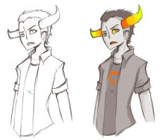 Homestuck: Tavros scetch by JackASmile