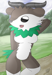 cute skiddo anthro o3o by DreamEclipseWolf