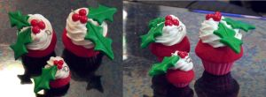X-mas cupcakes by Charly-chan