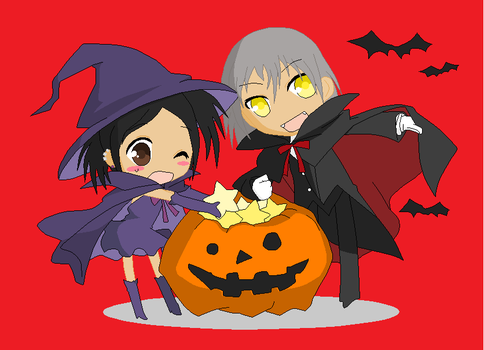 Like Brother like Sister Halloween by Cupidlove8