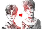 Eren and Levi Sketch by ThatRandomGurl