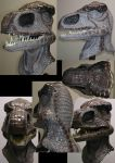Larp Latex Rex Mask by Arooki
