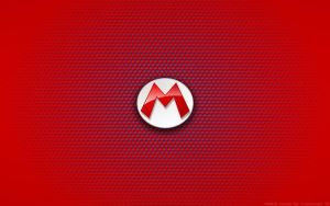 Wallpaper - Mario Logo by Kalangozilla