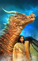 ebook cover: 'Lady Excalibur 4- mist of dragons' by 4steex