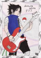 Sasuke Uchiha playing guitar XD by JoJoAsakura