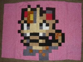 Meowth quilt panel 3 of 6 by SilkenCat