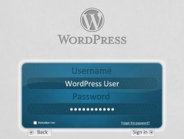 WordPress sign in page by Shahwanoo