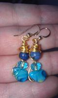 Blue Planet Earrings by AluminumSunset