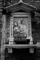 Madonna and child Venice BW II by CorazondeDios