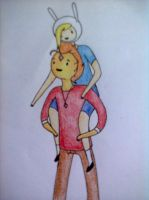 Fionna and FP by The-Human-Girl