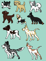 Dog Breed Adopts:  OPEN~ by xX-AvidaCreek-Xx