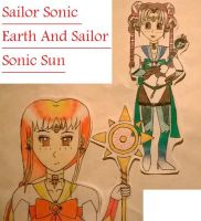 Sailor Sun Sonic and Sailor Earth Sonic by monsterhighlover3