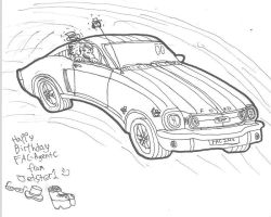 Mustang Pen Toon by Jetster1