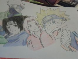 The Naruto Gang squad 7 :3 by Daphne-Swiftx13