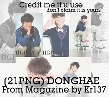 (21PNG) DongHae from magazine cutting by Kr137 by Kr137