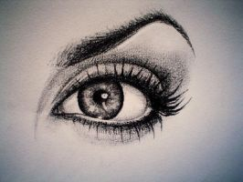 angelina jolie's eye by MihaelaLeuArt