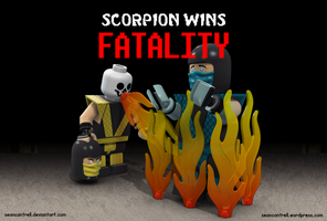 Lego Scorpion Fatality by seancantrell