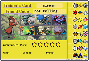 sirman's trainer card by sirmanguyperson