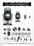 Free MIC, Sound, Volume Icon Set PNGs by Designbolts
