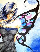 Sinkin' blue Butterfly by achirakagami