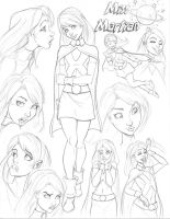 Young Justice CD Miss Martian by nathanscomicart