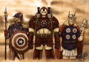 Steampunk Avengers by photon-nmo