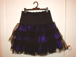 purple+black gothloli skirt by tanmei