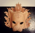 Crowned Leopard Leather Mask WIP by b3designsllc